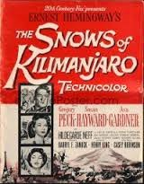 a review of hemingways the snows of kilimanjaro The leopard in ernest hemingway's the snows of kilimanjaro is referenced in a short kind of prologue before the story ever begins kilimanjaro is a snow-covered mountain 19,710 feet high, and.