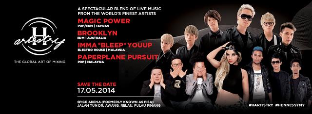 H-Artistry 2014 Penang Artiste Lineup & Profile