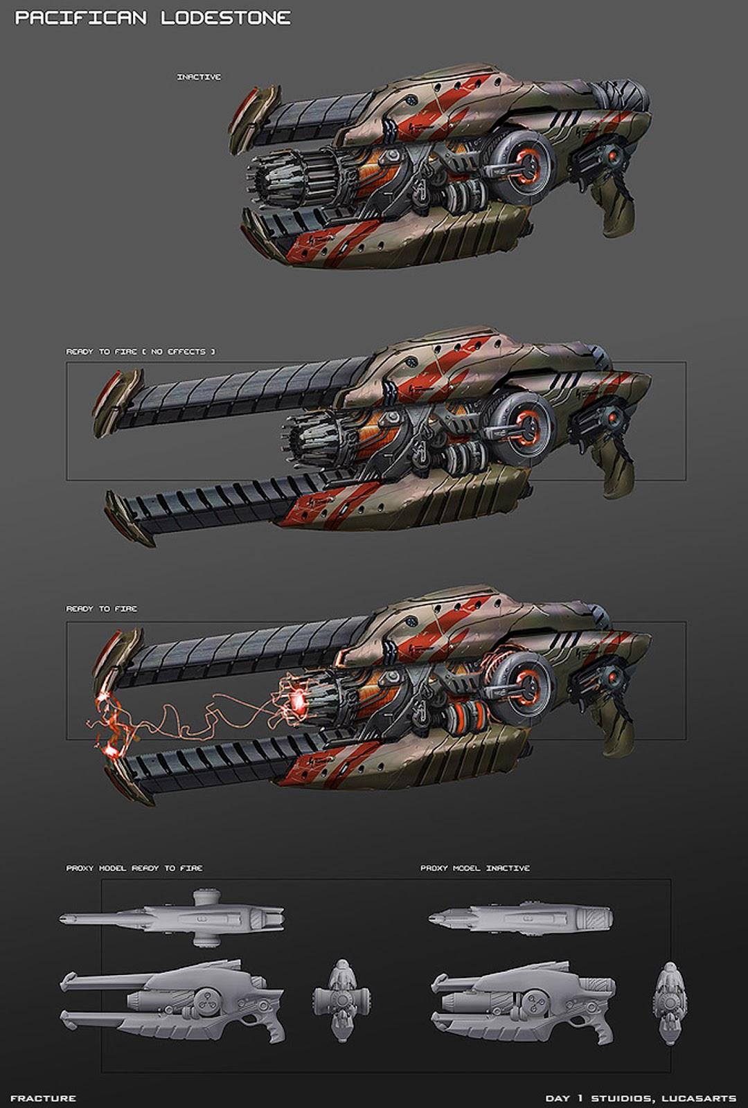 Sci fi futuristic guns