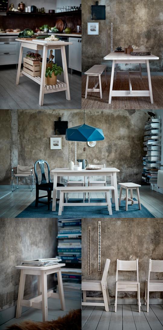 IKEA höstnyhet 2015 - Norråker bord, stol, pall, bänk | www.var-dags-rum.se