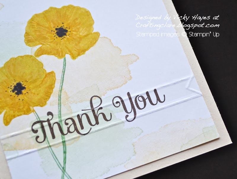 Vicky from Crafting Clare's Paper Moments scores a banner using the Simply Scored from Stampin' Up