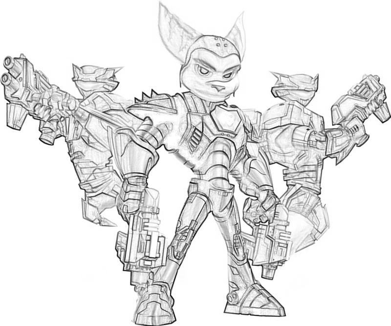 Ratchet And Clank Free Coloring Pages Ratchet And Clank Coloring Pages