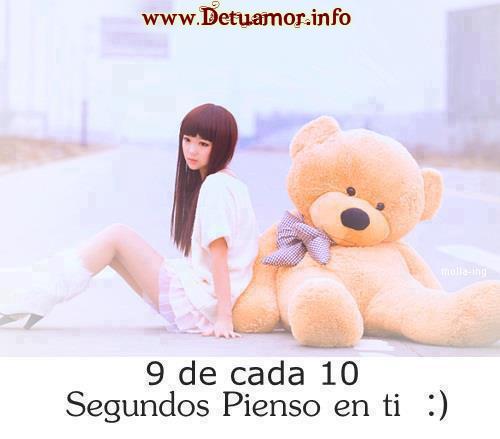 9 de cada 10 segundos pienso en ti :)