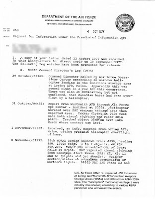 Air Force FOIA Response  (Pg 1) 10-4-1977