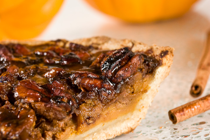 Olio by Marilyn: Pumpkin Pecan Pie