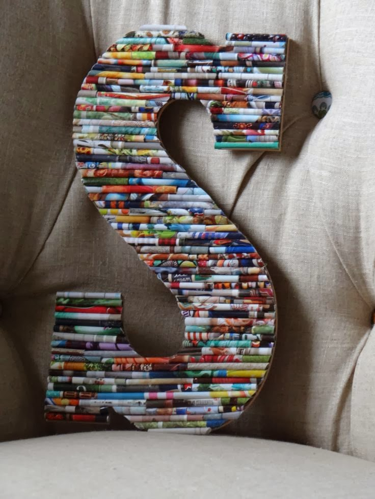 The art of up cycling upcycled letters ideas cool for Ideas for old magazines