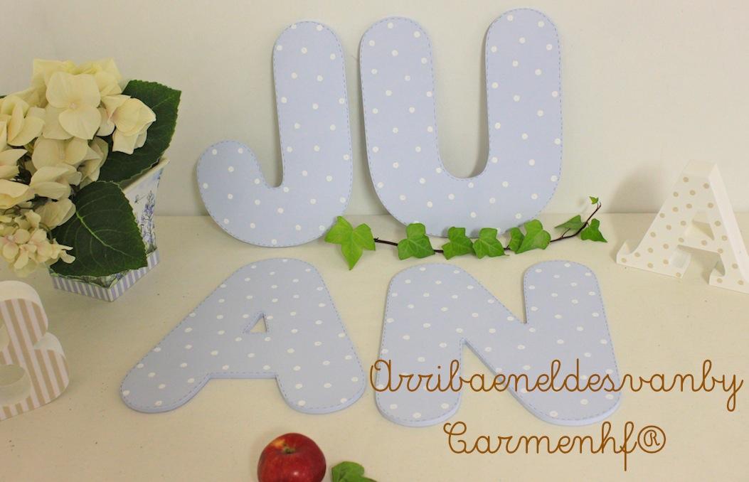Letras decoradas para juan decoraci n infantil personalizadadecoracion infantil personalizada - Letras decoradas infantiles ...