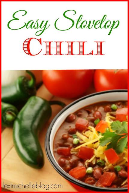 easy stove top chili recipe