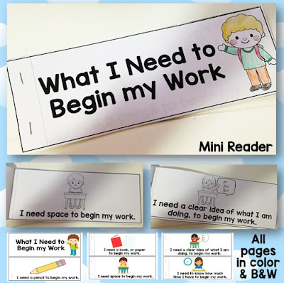 FREE What I Need to Begin Work Desk Strip Mini Reader