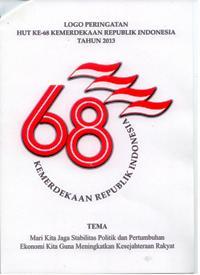 Logo dan Tema Peringatan HUT Ke-68 Kemerdekaan RI Tahun 2013