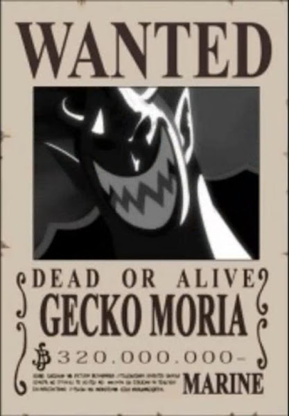 Gecko Moria One Piece Wanted Posters