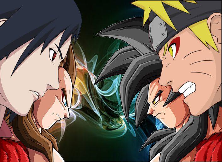 IMAGENS DBZ VS NARUTOVegeta Vs Naruto