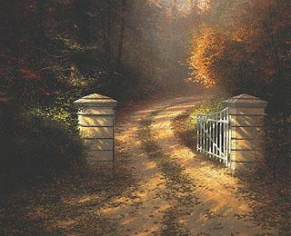 Thomas Kinkade Autumn Gate4