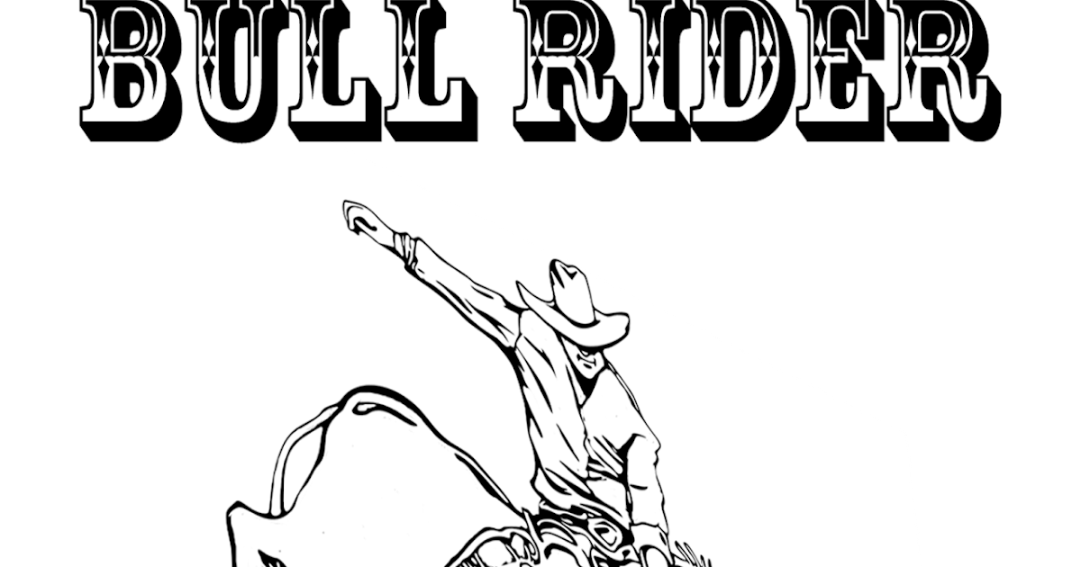 RODEO COLORING PAGES: Bull Rider Coloring Sheet 2