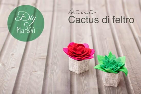 Cactus di feltro fai da te