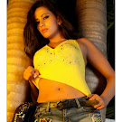 Sanjana Singh Hot Pics in Yellow Dress