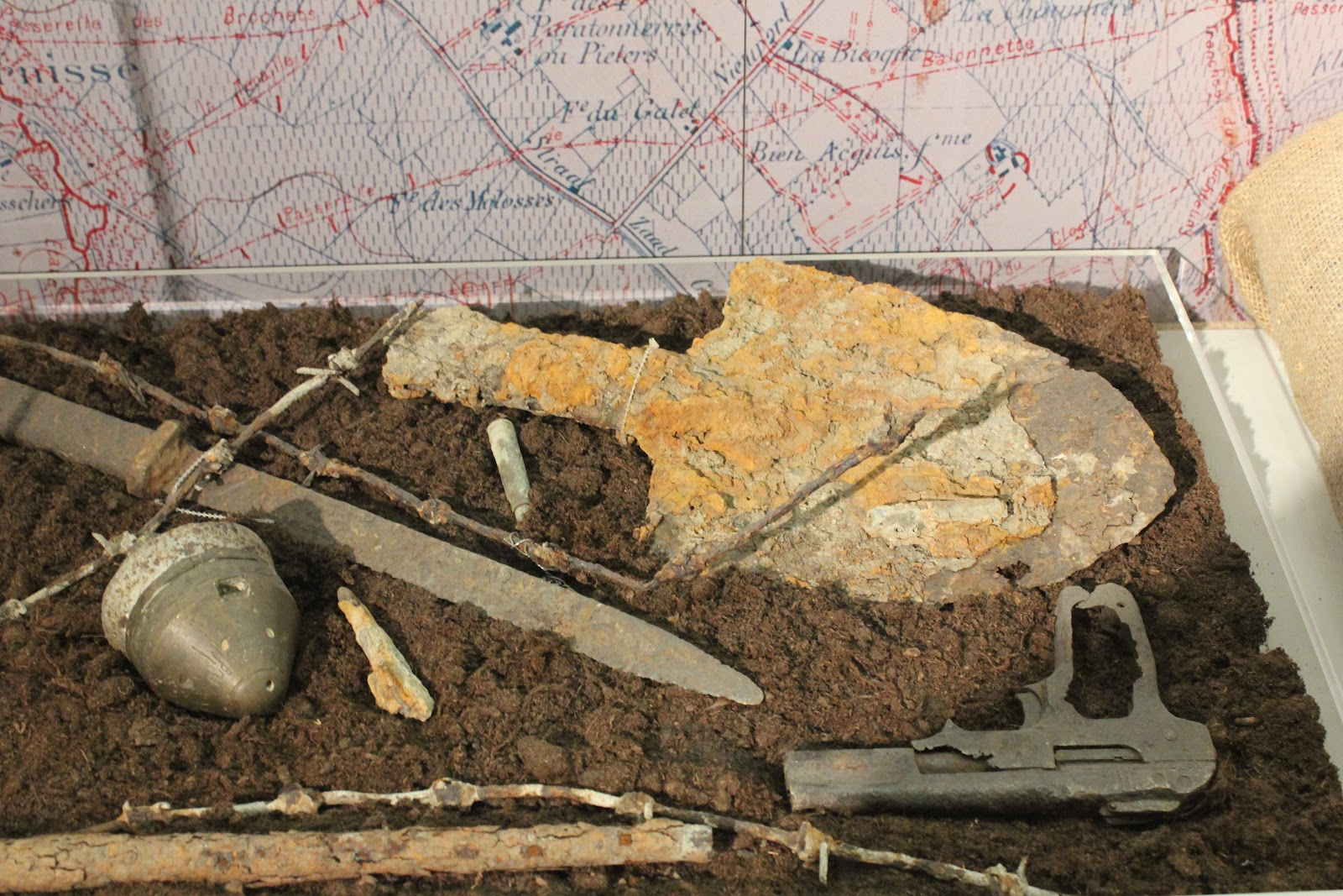The World Of Nickolndia Wwi Trenches Trench Diagram Pistol And Excavating Shovel