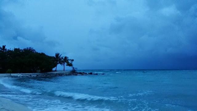 Mal tiempo en Maldivas