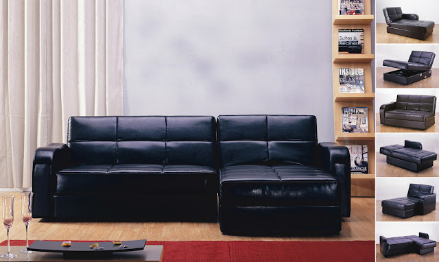 corner leather sofa bed
