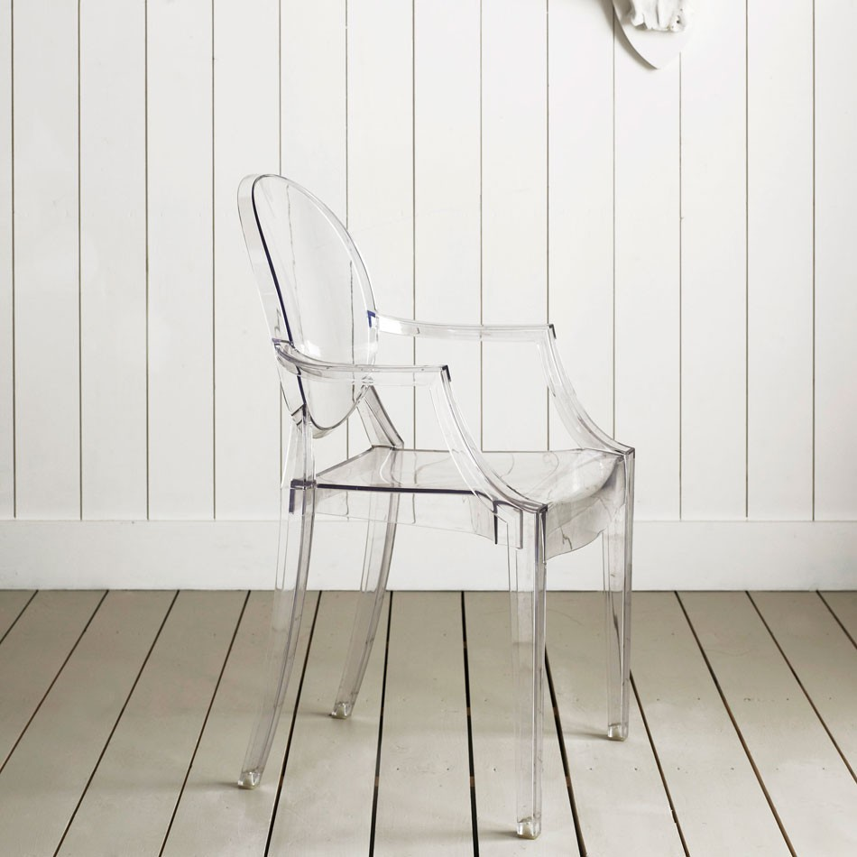 Invisible touch modern design by for Chaise louis ghost kartell