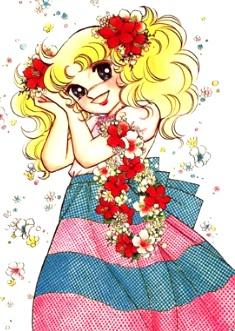 magen de candy muy feliz con sus flores