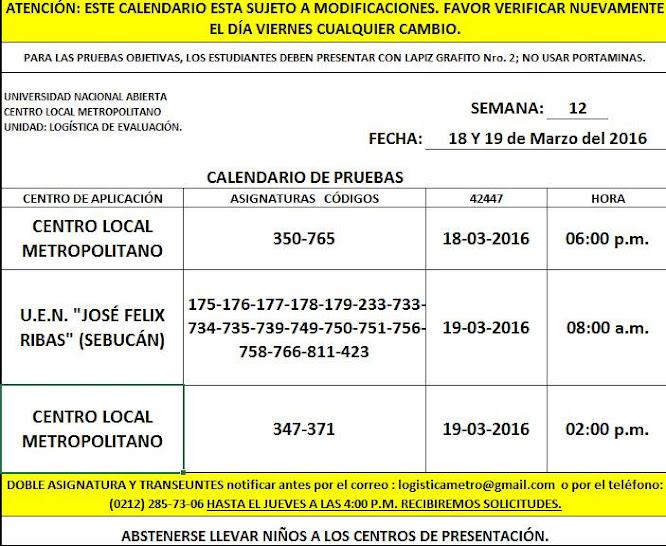 CENTRO DE PRESENTACIÓN EN METROPOLITANO. VIERNES 18 y SÁBADO 19 DE MARZO