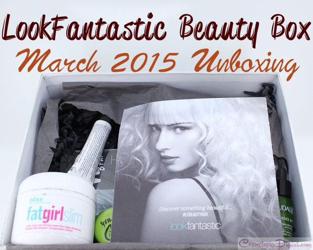 LookFantastic Beauty Box March 2015 unboxing, review