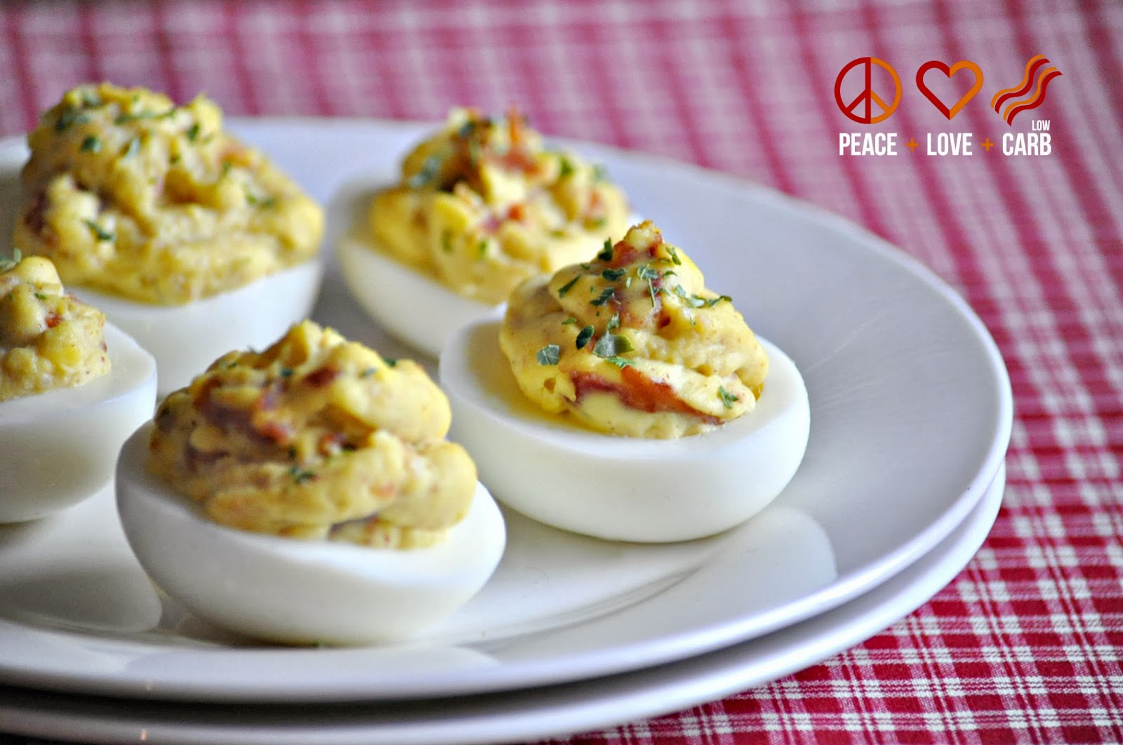 Bacon Deviled Eggs - Low Carb, Paleo | Peace Love and Low Carb