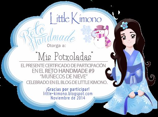 Certificado del Reto Handmade Muñeco de Nieve