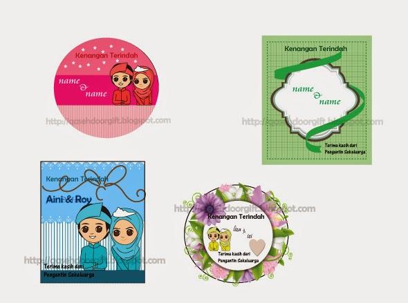 Design card sticker untuk majlis tunang kahwin