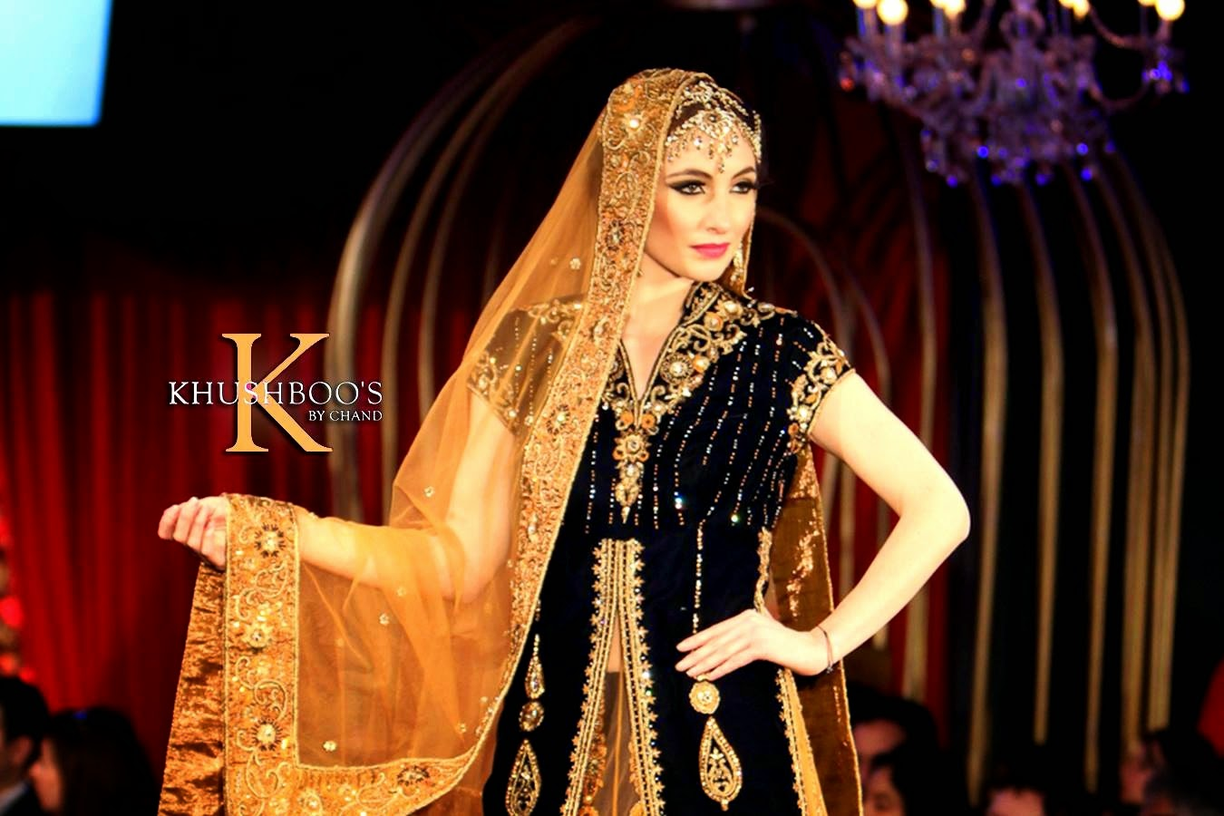 Indian Bridal Velvet Dresses by Khusboos