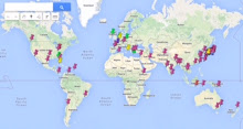 KIDS' GUERNICA 世界地図