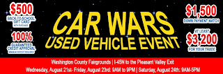 Car Wars begins on Wednesday, August 21st.