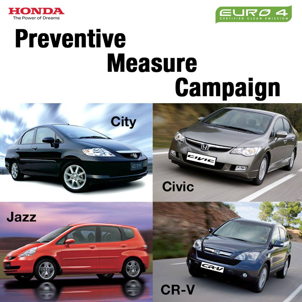 Honda Preventive Measure Campaign