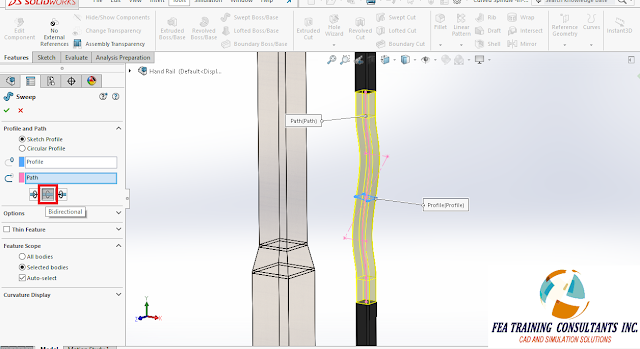 sweep selection solidworks 2016