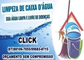 CLICK LIMPEZA CAIXA D` ÁGUA