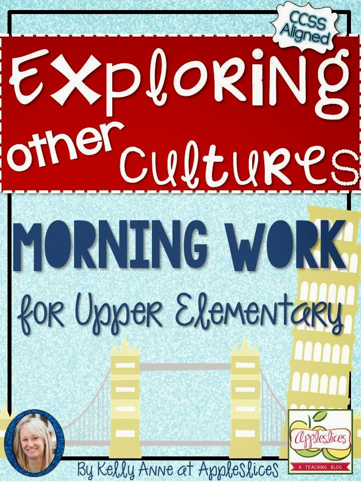 http://www.teacherspayteachers.com/Product/Free-Learning-About-Cultures-Morning-Work-for-Upper-Elementary-CCSS-Aligned-1131648