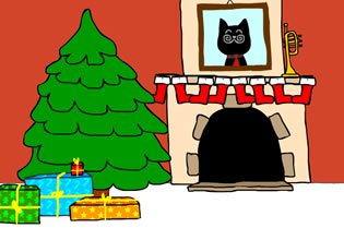 BartBonte Christmas Cat W…
