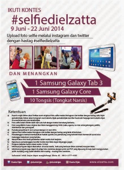 Kontes Selfie Berhadiah Utama SAMSUNG Galaxy Tab 3