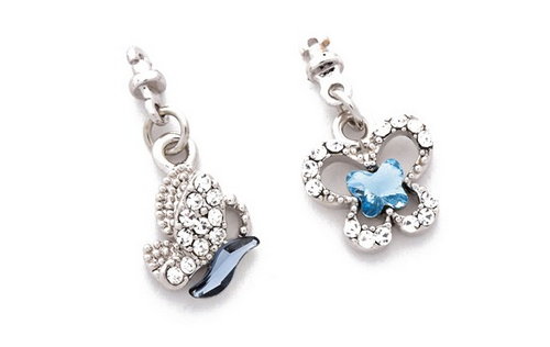 Swarovski Crystal Pendant Series - Butterfly Earrings