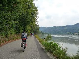 carril exclusivo para bicis en el Danubio