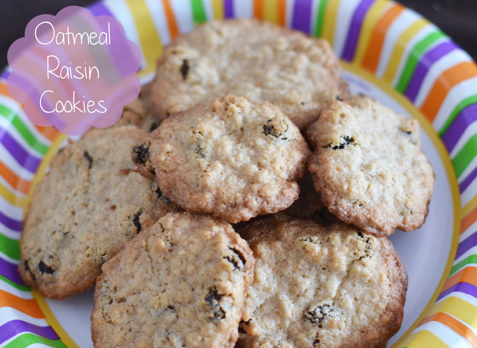 Chewy Oatmeal Raisin Cookies - The Stitchin Mommy