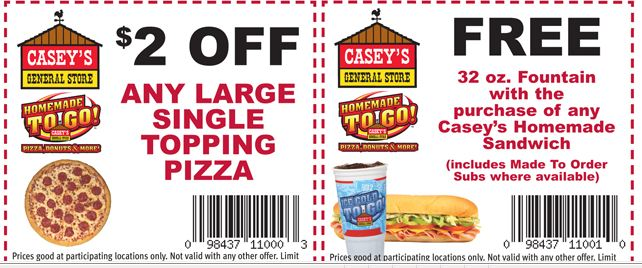 Caseys pizza coupons cb2 furniture store for El furniture warehouse toronto menu