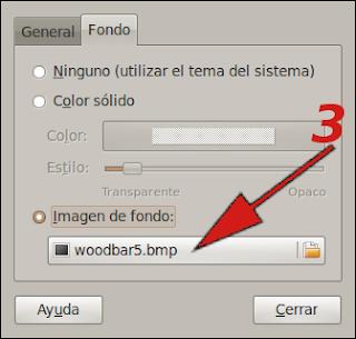 Cambiar opciones del panel de ubuntu