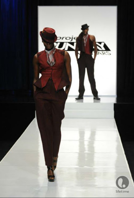 Project Runway - Emilio Sosa's androgynous looks
