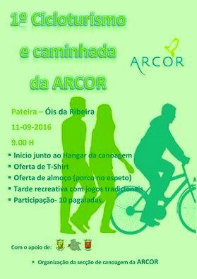 PASSEIOS DE CICLOTURISMO E CAMINHADA DA CANOAGEM DA ARCOR