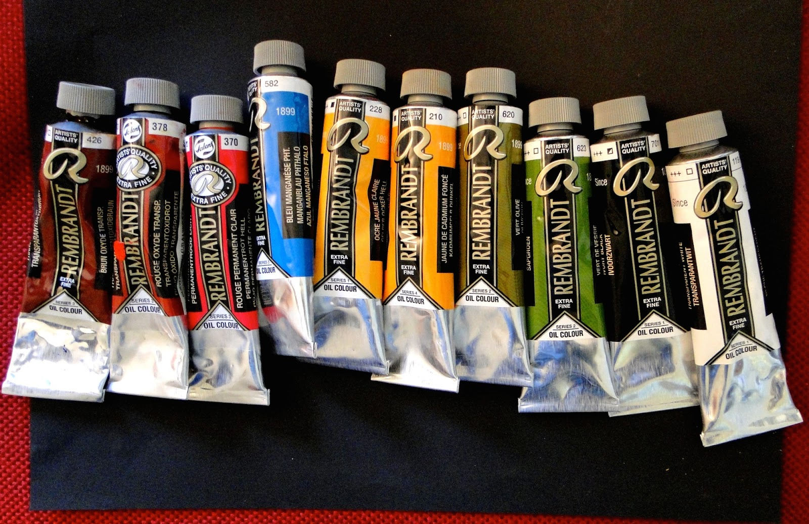 My selection of Rembrandt oil paints