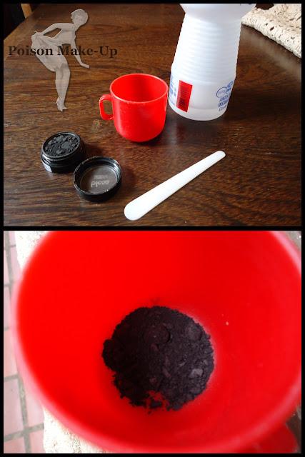 Como salvar sombras em pó, materiais.