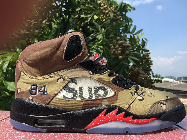 """5cf4ce5ee12 we now share all the latest looks of the Supreme x Air Jordan 5 """"Camo"""" that  have arrived to our store below"""