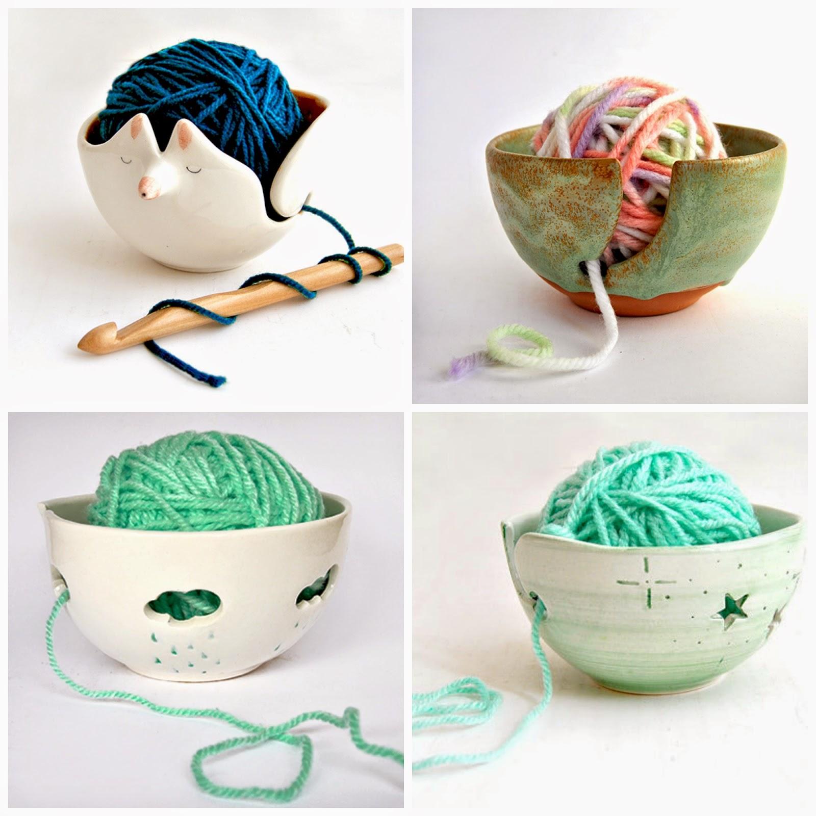 Barruntando cerámica cuenco lana